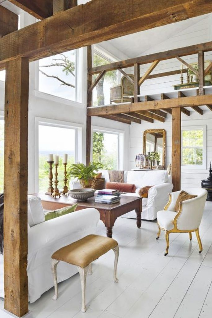 White furniture combined with white walls and white wooden floor