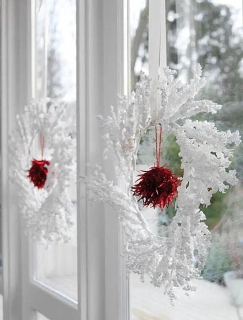 White hanging wreath decoration