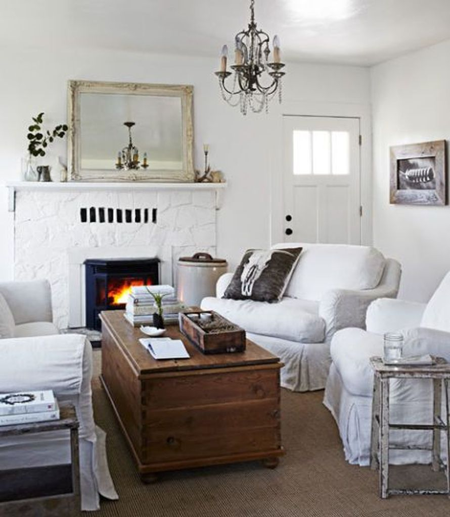 White sofa combined with white walls to perfect your living room