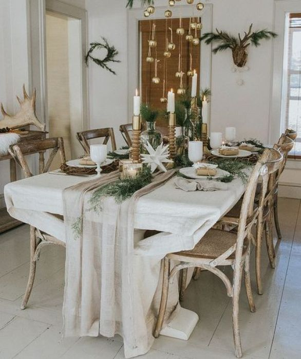 Minimalist-boho-christmas-table