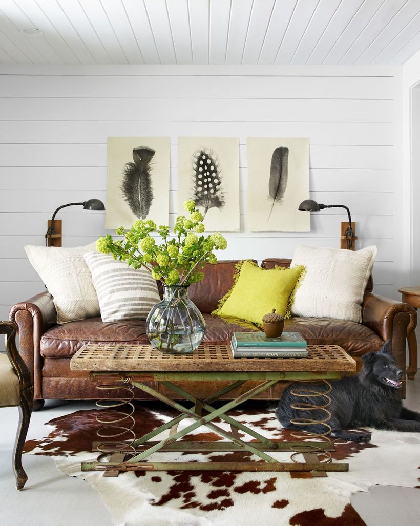 White and tellow cushion with diy wooden table
