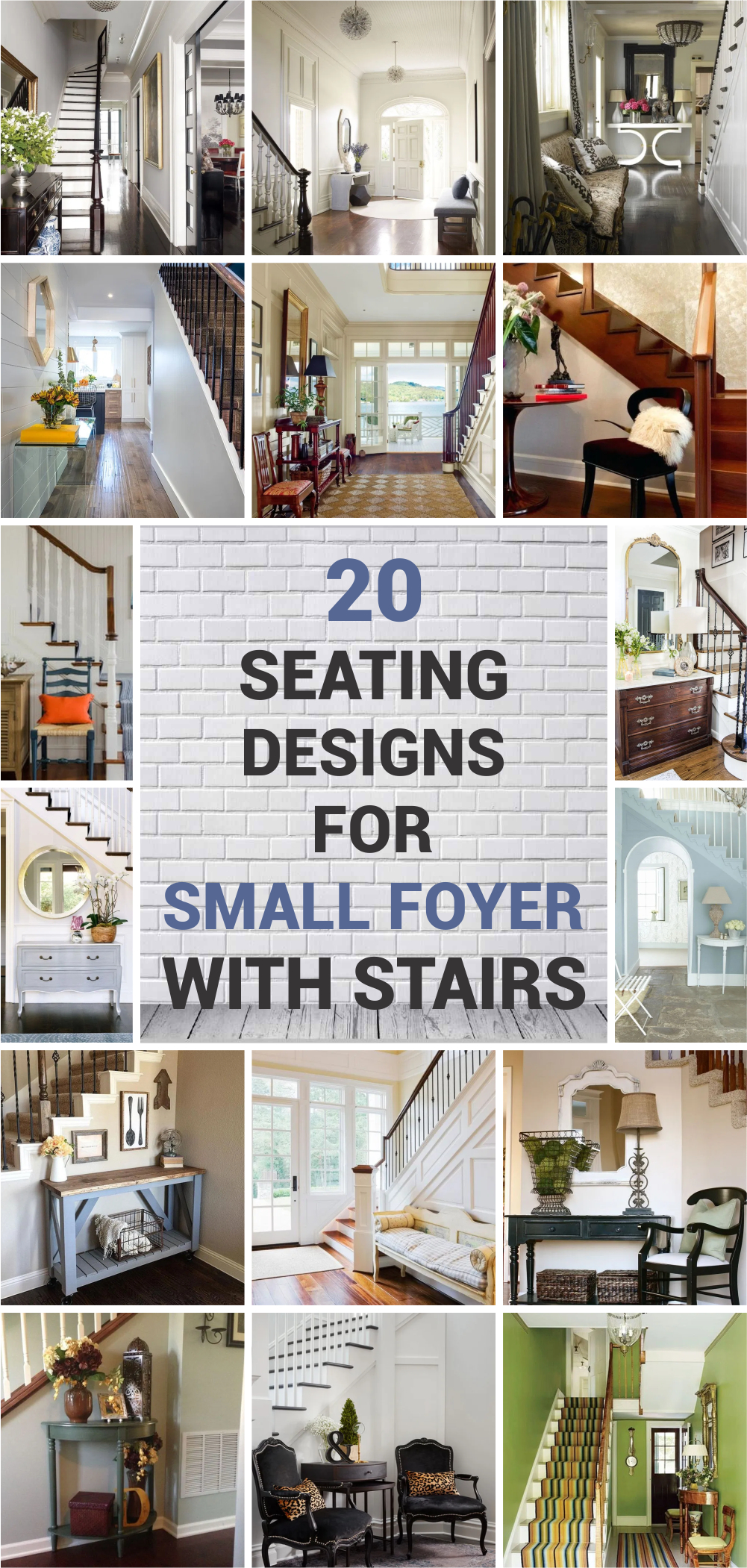 20 seating designs for small foyer with stairs 1
