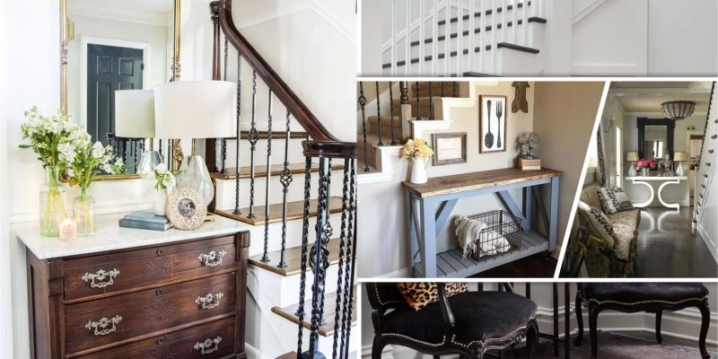 20 seating designs for small foyer with stairs 5