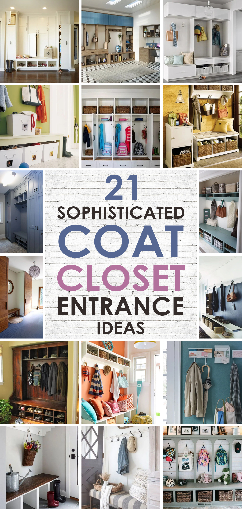 21 sophisticated coat closet entrance ideas 1
