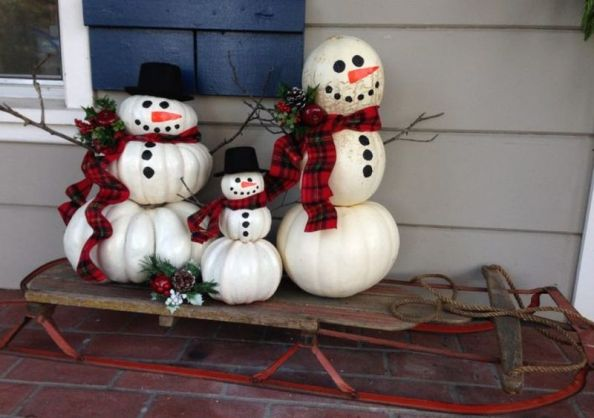 Outdoor-decoration-snowman-with-pumpkins-are-going-for-a-song-right-now-and-this-snowman-craft-is-so-simple.-kids-can-help-too-tutorial-here-at-gidget-and-larue.