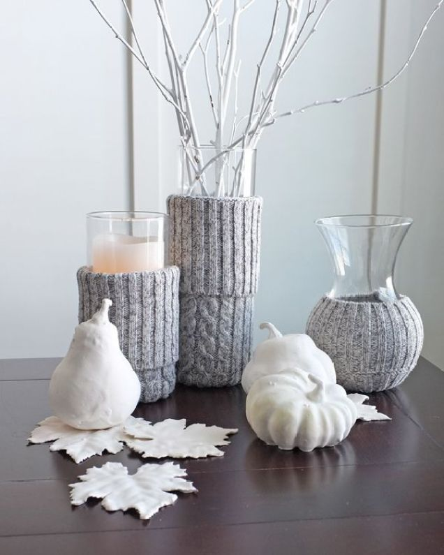 Vases-covered-with-sweater