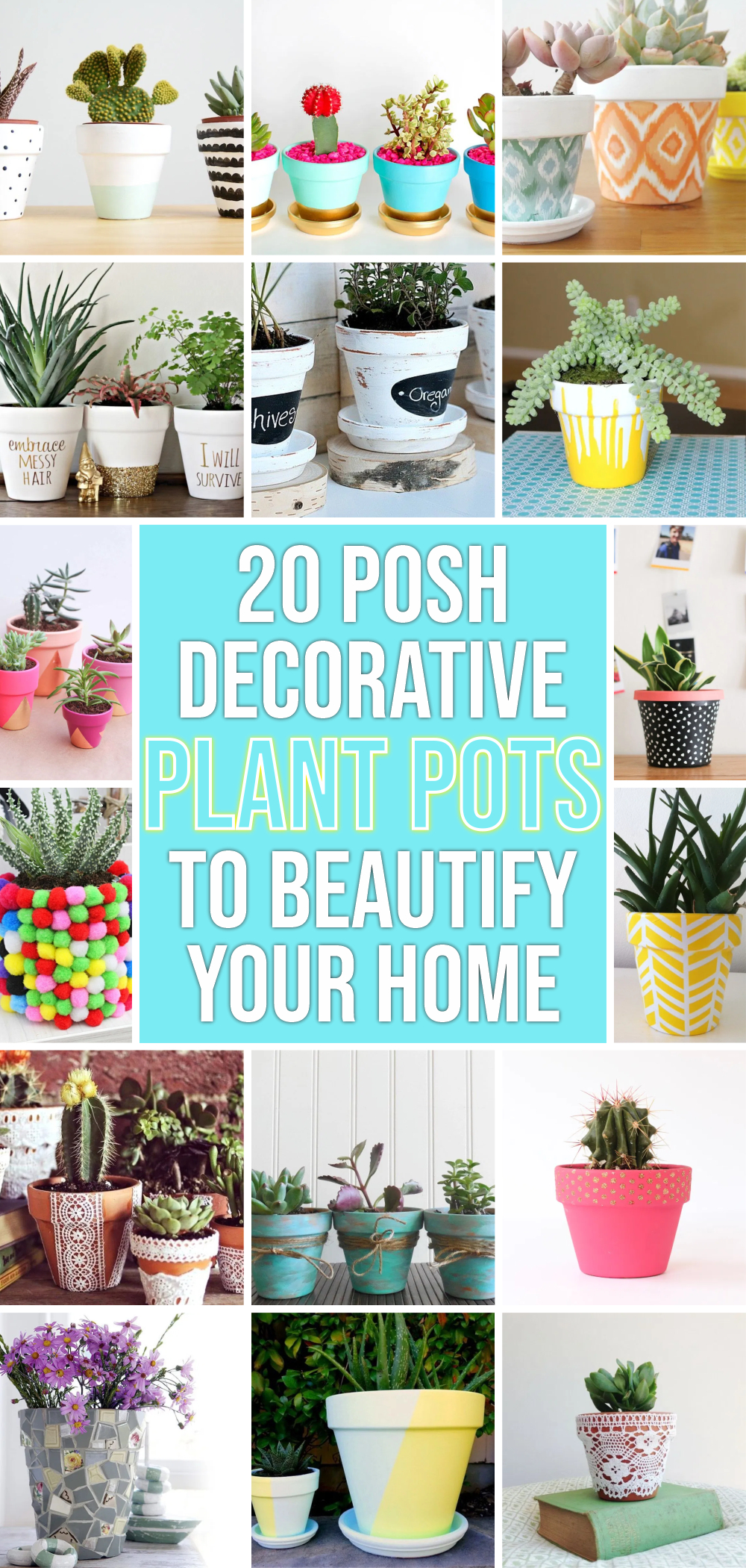 20 posh decorative plant pots to beautify your home 1