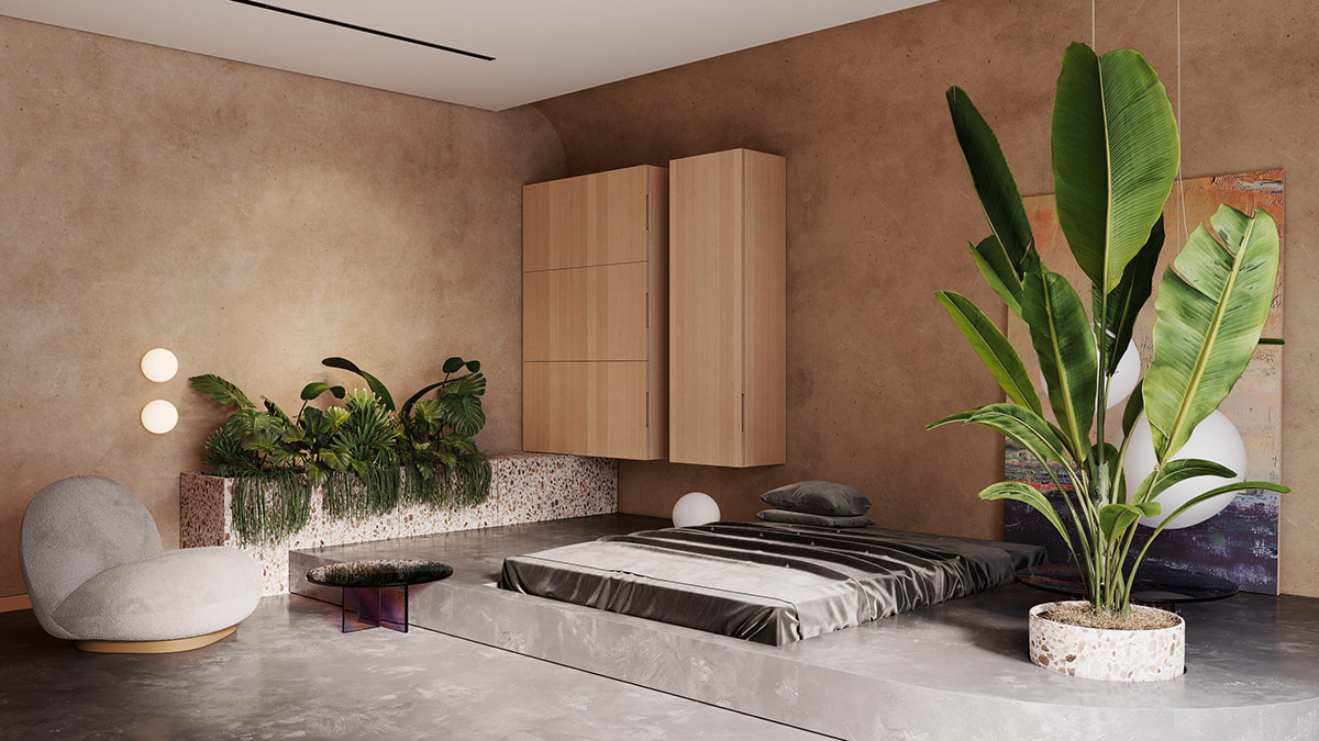 Mind-blowing beige apartment interior that brings certain warmth to a modern room scheme 3