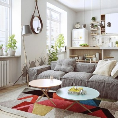 Nordic apartment design with more colorful and plenty of natural themes