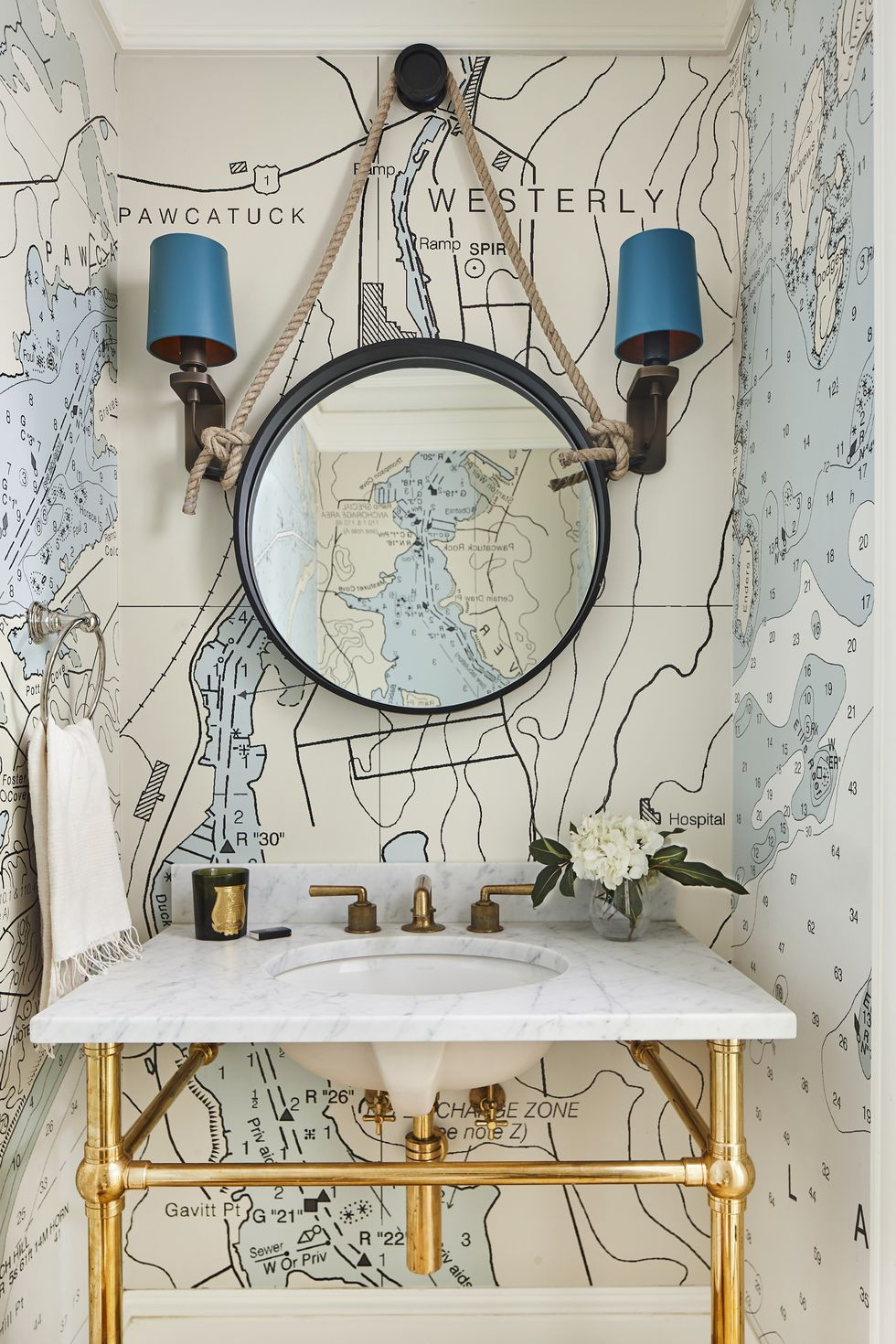 Worldly wallpaper Vitalizing Half Bathroom Ideas That Refreshing Your Half Space In A Right Way