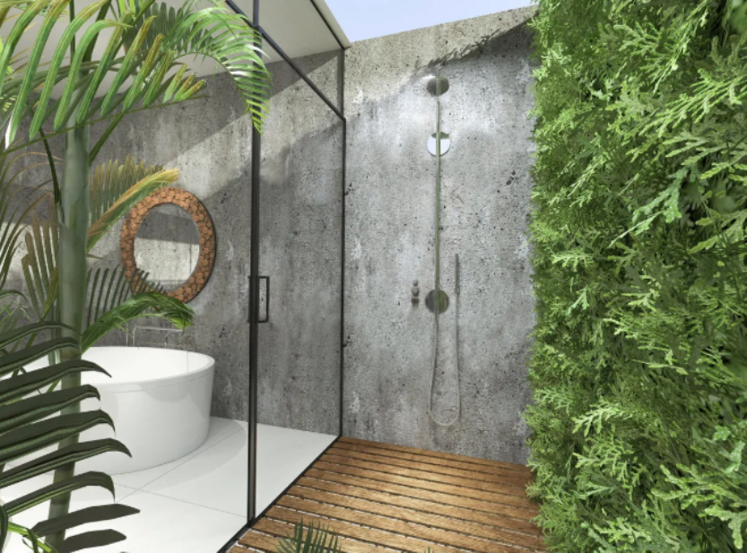 A biophilic bathroom