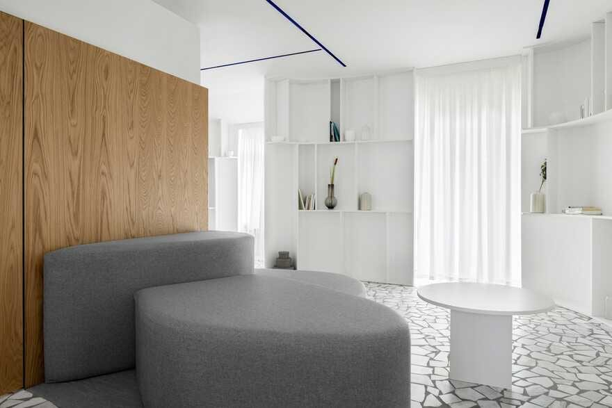Interior design of a townhouse for a young family with two children 1