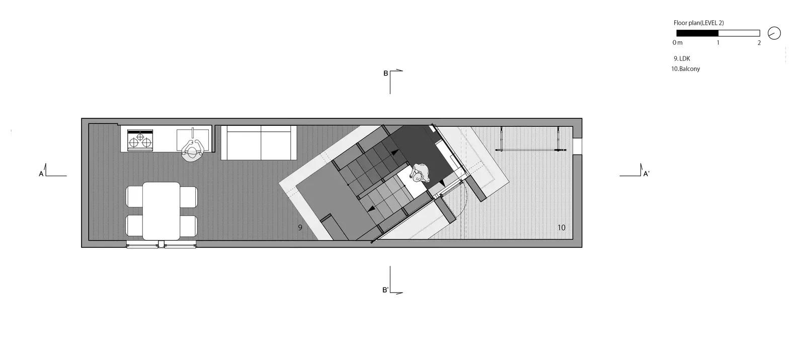 House_in_tezukayama_plan03_1f_level2_eng