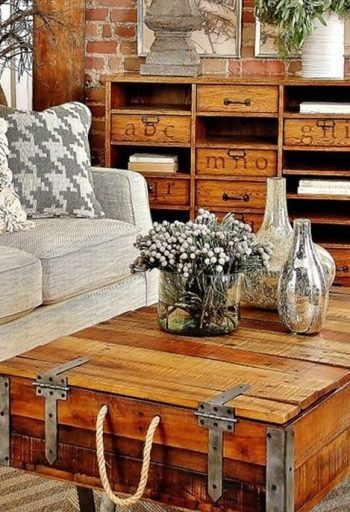 Awesome country farmhouse decor living room ideas 23