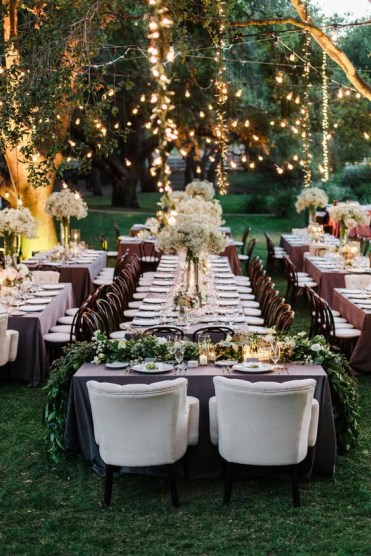 1 05-beautiful-spring-garden-wedding-reception-with-lights-and-greenery