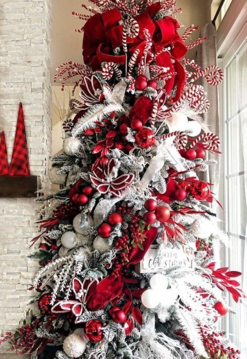 1 complementing the christmas decoration with a christmas tree is one perfect idea. decorating your christmas tree with candy canes will give it a more festive look.