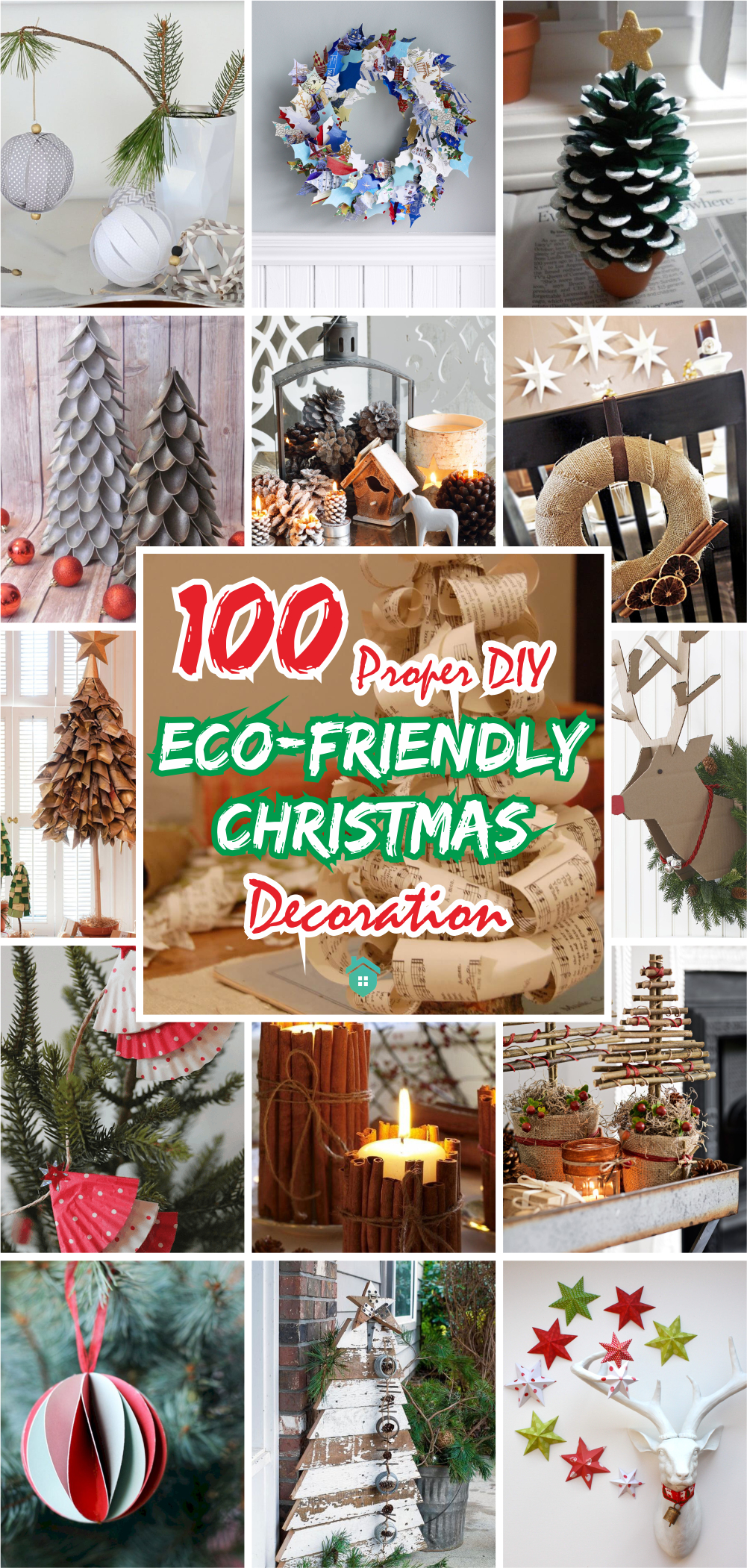 100 proper diy eco-friendly christmas decoration5