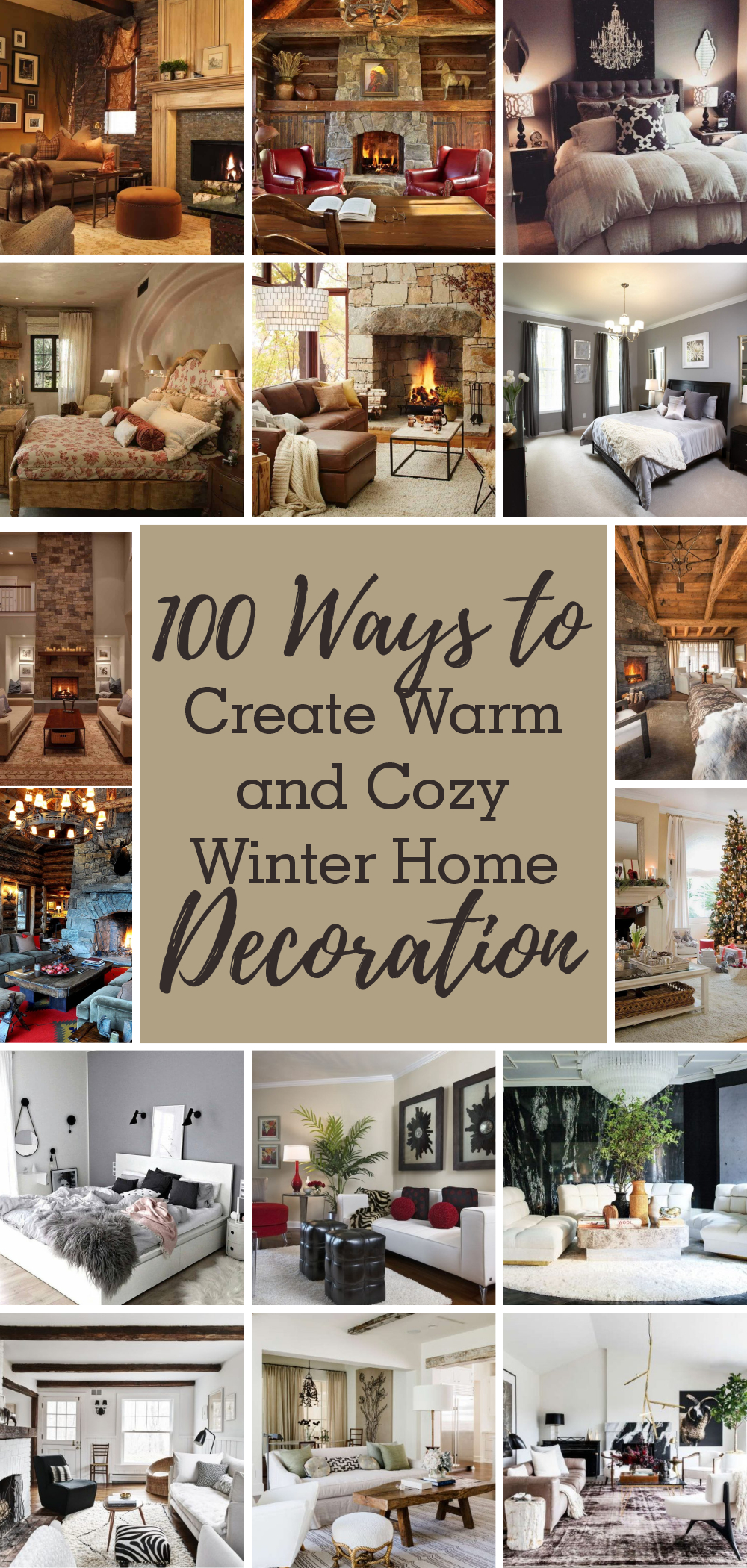 100 ways to create warm and cozy winter home decoration 1