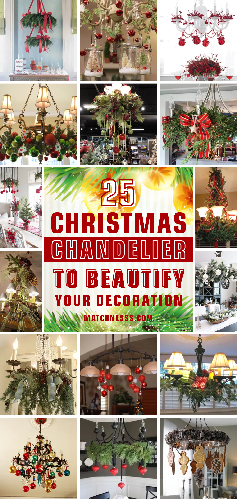 25 christmas chandelier to beautify your decoration 1