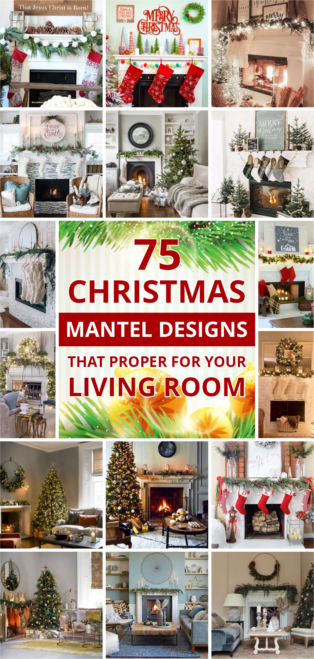 75 christmas mantel designs that proper for your living room 1