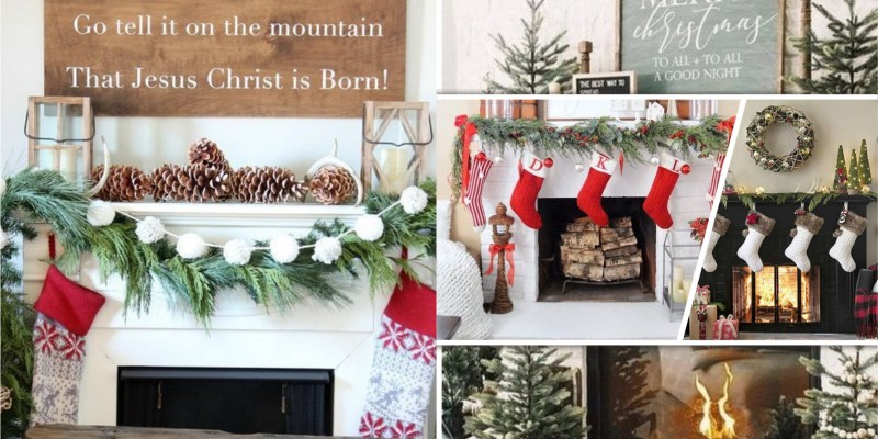 75 christmas mantel designs that proper for your living room fi