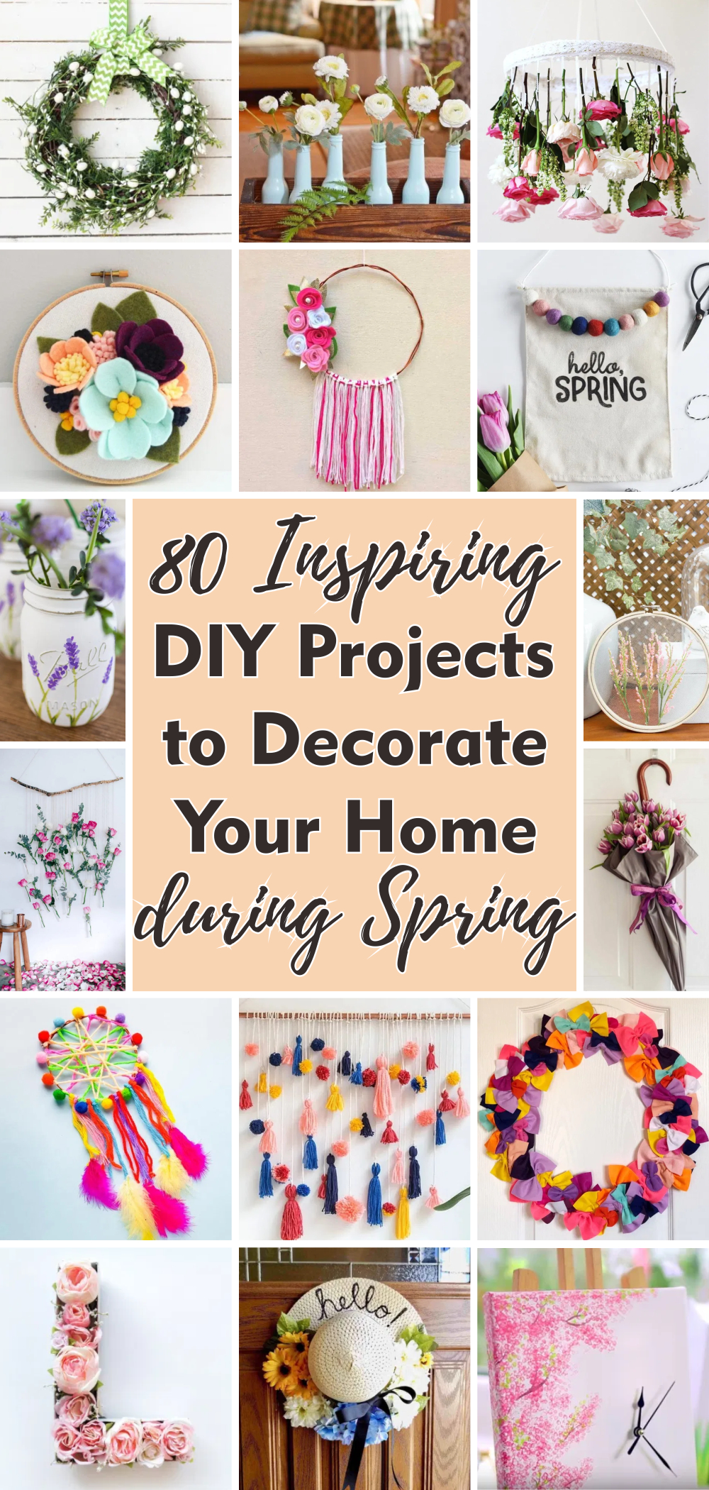 80 inspiring diy projects to decorate your home during spring 1