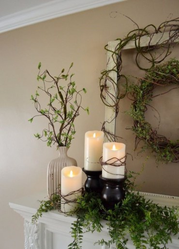Combine-candle-glow-with-fresh-greens