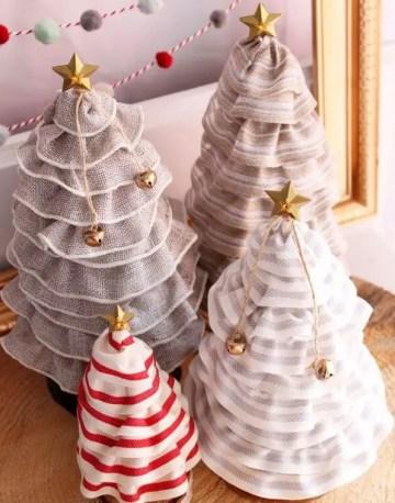 Diy-christmas-tree-cones-with-ribbon