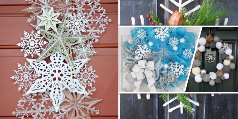 Snowflake wreath craft to be your winter ornament
