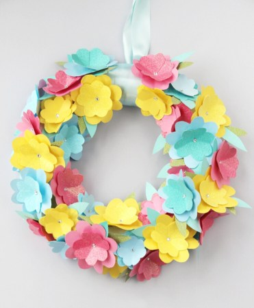 Diy+paper+flower+wreath