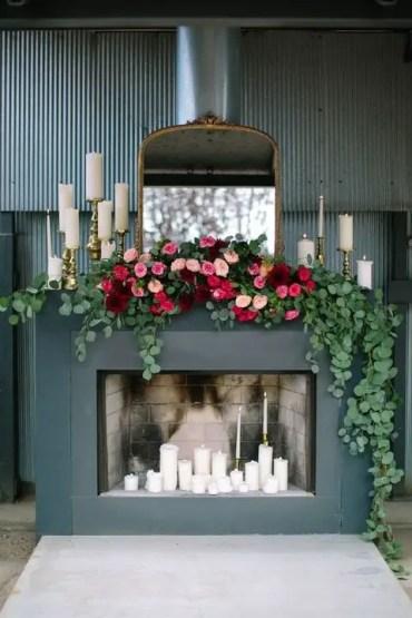 Eucalyptus-and-lush-florals-wedding-garland