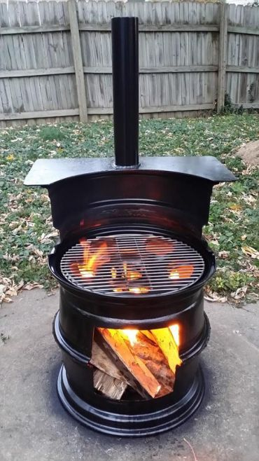 Gallon+drum+smoker+fire+pit