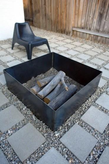 Minimalist+steel+fire+pit