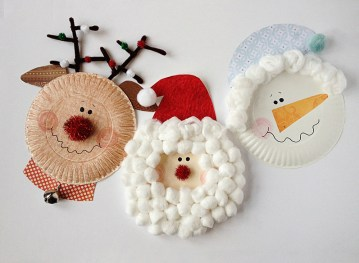 Paper plate christmas decorations