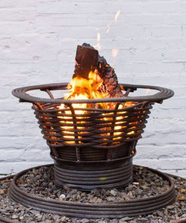 Recycled+cable+wire+fire+pit