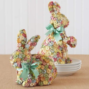 1 floral-crafty-bunny-with-ribbons-on-the-neck-easter-decoration