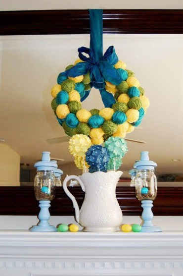 1 yarn-balls-as-easter-egg-wreath-for-a-colorful-celebration