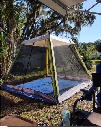 Create a screen room Good-Looking Campsite And Patio Decorating Ideas For All Types Of RVers