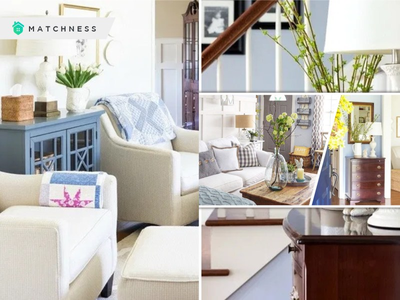 Inspiring living room spring decor with blooms and branches fi