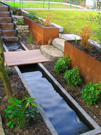 Multi-level ponds with cascade feature Innovative Landscape Ideas For Water Features To Create A New Look