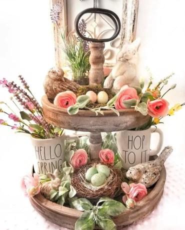 Rustic-spring-tray-decor