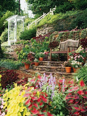 Slope gardens Turn Your Small Space Into A Large Garden Area With These Genius Space-Savvy Solutions