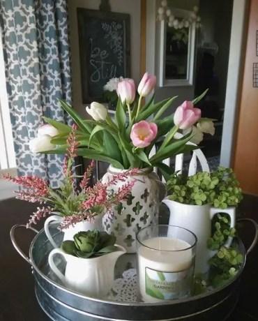 Spring tray decor ideas _ 13