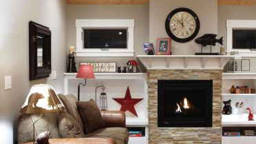 Stacked-stone-fireplace