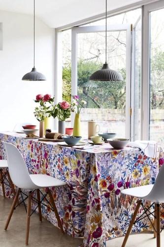 Garden-inspired tablecloth