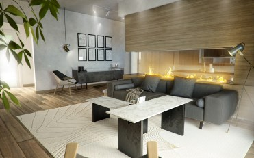 Wood-and-grey-living-room-with-textured-touches