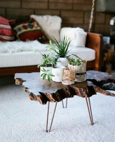Wood-slab-coffee-tabled-decorating-ideas