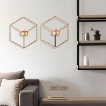 1-minimalist-wall-metal-candle-ideas