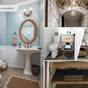 15 awesome powder room treatment you can copy 2