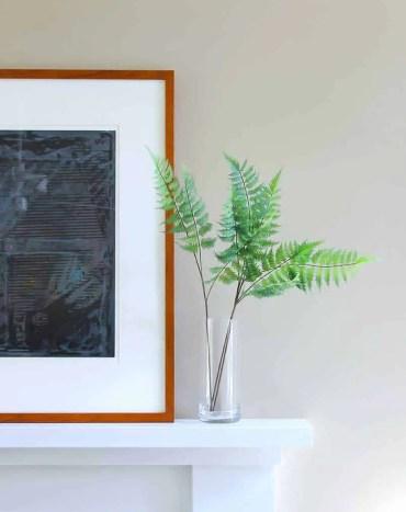 2-diy-fake-plant-decor-fireplace-mantle
